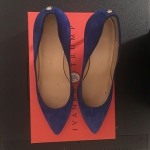 Ivanka Trump Blue Suede Shoes